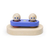 Tegu Floating Stacker Blue & Green Magnetic Wooden Blocks