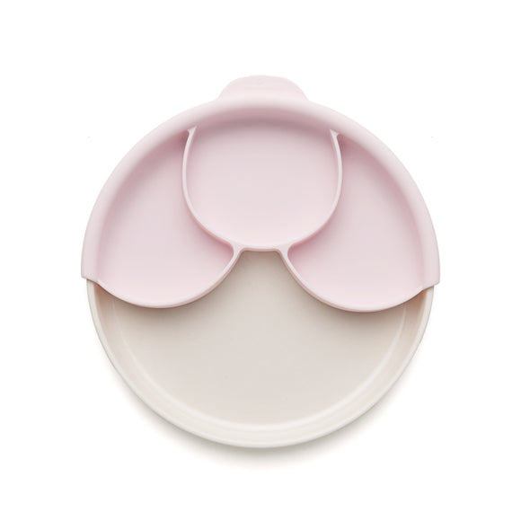 Miniware Smart Divider Plate Set - Natural Bamboo + Cotton Candy