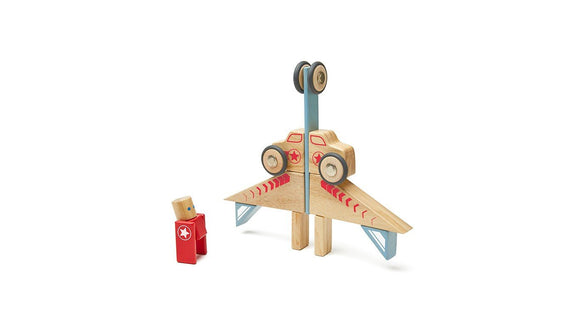 Tegu Stunt Team Jumper Magnetic Wooden Block