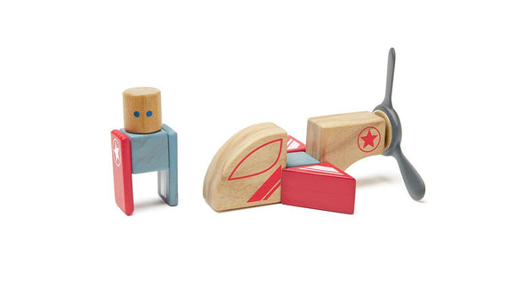 Tegu Stunt Team Skyhook Magnetic Wooden Block