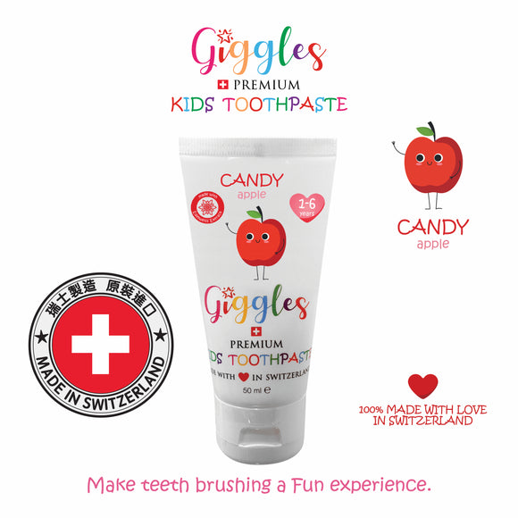 Switzerland Kids Toothpaste - Candy Apple 1-6yrs (50ml)