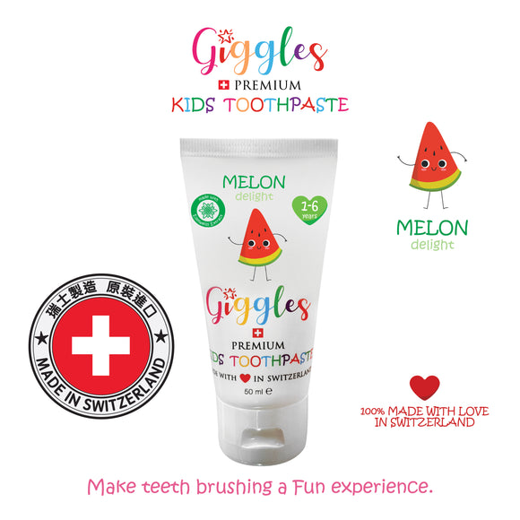 Switzerland Kids Toothpaste - Melon Delight 1-6yrs (50ml)