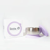 Little.b Double-layer 316 Stainless Steel Suction Bowl - Purple