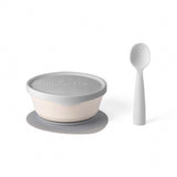 miniware-first-bite-set-pla-cereal-suction-bowl-vanilla-+-silicone-spoon-and-cover-in-cotton-grey- (2)