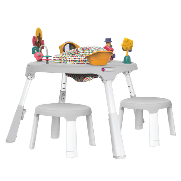 Oribel PortaPlay Convertible Activity Center + Stool Combo Set - Wonderland Adventures