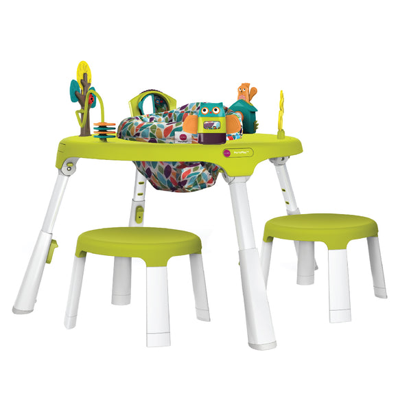Oribel PortaPlay Convertible Activity Center + Stool Combo Set - Forest Friends