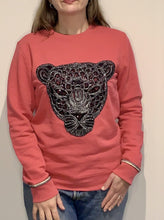 Load image into Gallery viewer, Pink Leopard Metallic Cuff Detail Sweatshirt