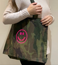 Load image into Gallery viewer, Neon Smiley Camo Bag