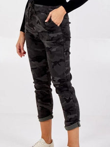 Zip Pocket Jogger Trousers/Navy