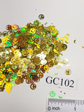 Smiley Face - Gold Holographic - GC102