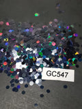 Black Holographic - Hexagon - Chunky - GC547