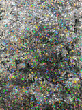Butterfly - CONFETTI - Silver Holographic