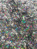 Four Point Star Mix - Black Holographic - HOLOGRAPHIC GLITTER