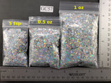 Four Point Star Mix - HOLOGRAPHIC GLITTER - Silver Holographic