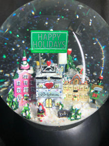 "Brighton Storyland Musical Snow Globe Plays ""Let it Snow"" Christmas"