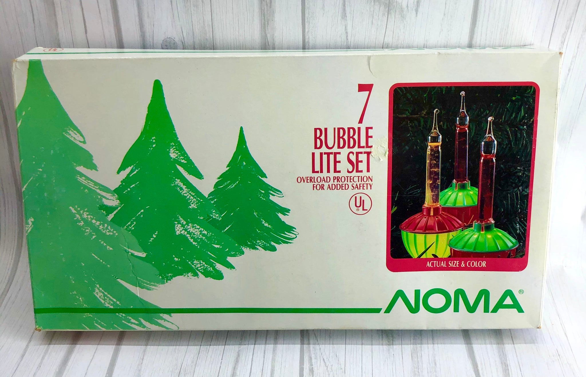 Vintage Noma Bubble Lite Lights Set of 7 All Working Tested