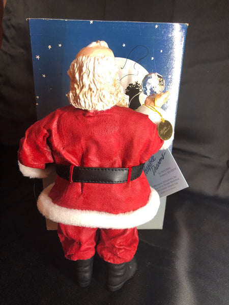 NWT Vintage Clothtique Posibble Dreams Crystal Ball Gazing Pipe Smoking Santa