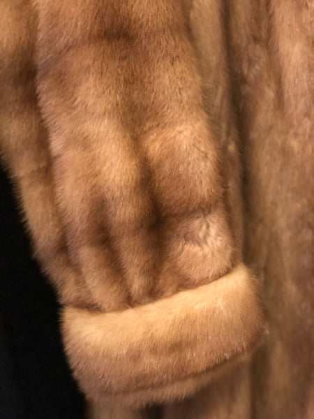 Vintage Autumn Haze Honey Mink Swing Fur Coat