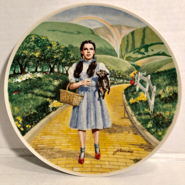 The Wizard of Oz Over The Rainbow Knowles Limited Edition 1977 James Auckland Collectors Plate