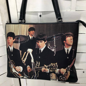 Vintage The Beatles Band Handbag Purse