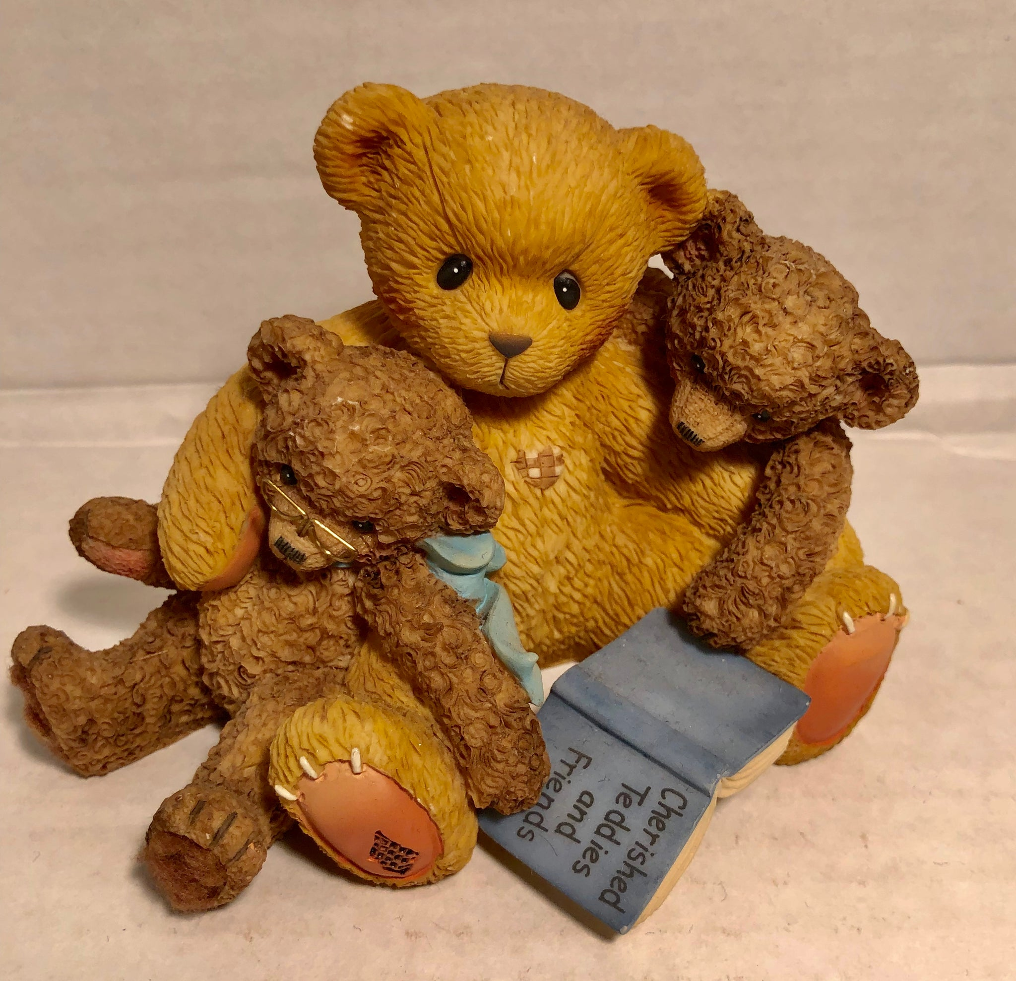 Cherished Teddies 1999 Caleb and Friends When One Lacks Vision Another Must Provide Supervision