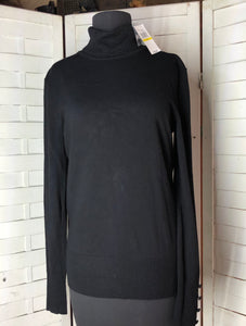 Cupio Women's Black Long Sleeve Turtleneck Sweater Size M