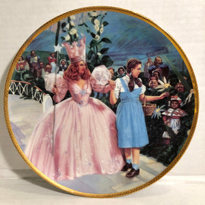 The Wizard of Oz A Glimpse of the Munchkins Hamilton Collection Collectors Plate