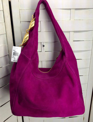 Eric Javits Suede Handbag Purse New With Tags