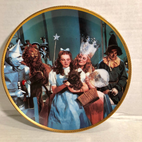 The Wizard of Oz There's No Place Like Home Hamilton Collection Collectors Plate
