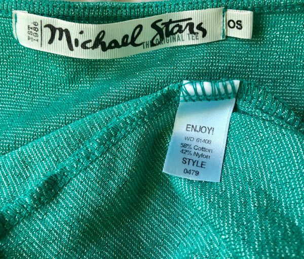 Michael Stars Teal Short Sleeve Tee Shirt Size OS