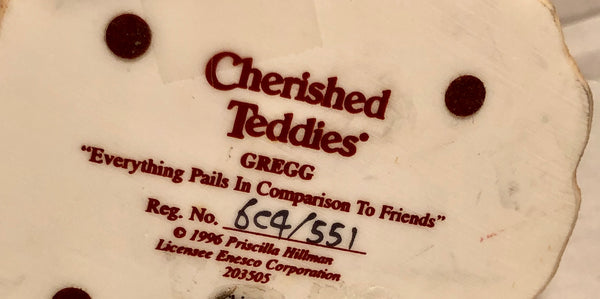 Cherished Teddies 1996 Gregg Everything Pails In Comparison To Friends