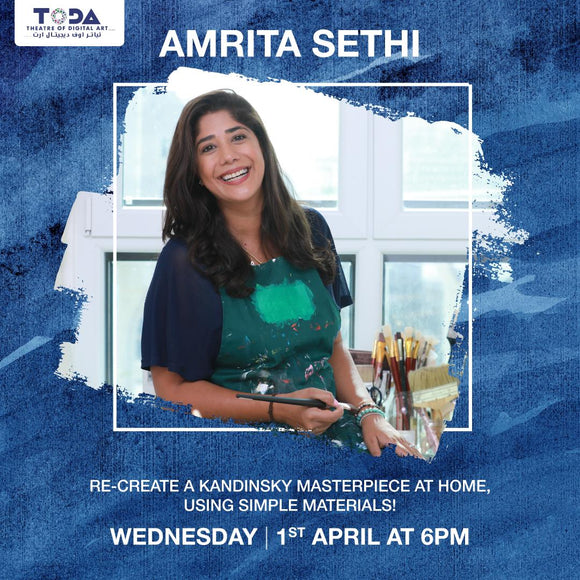 Instagram Live Art Workshop with Amrita Sethi
