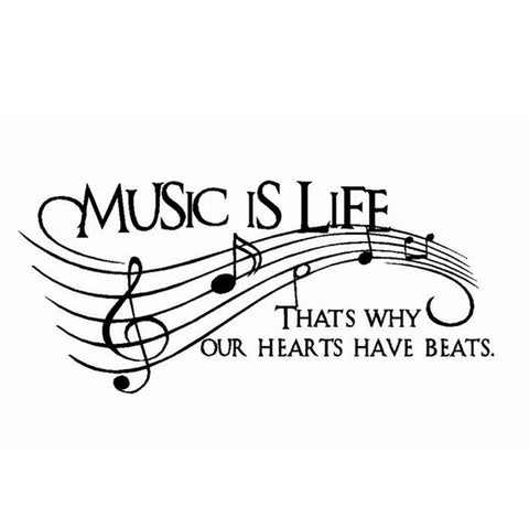 Music Is Life Wall Sticker