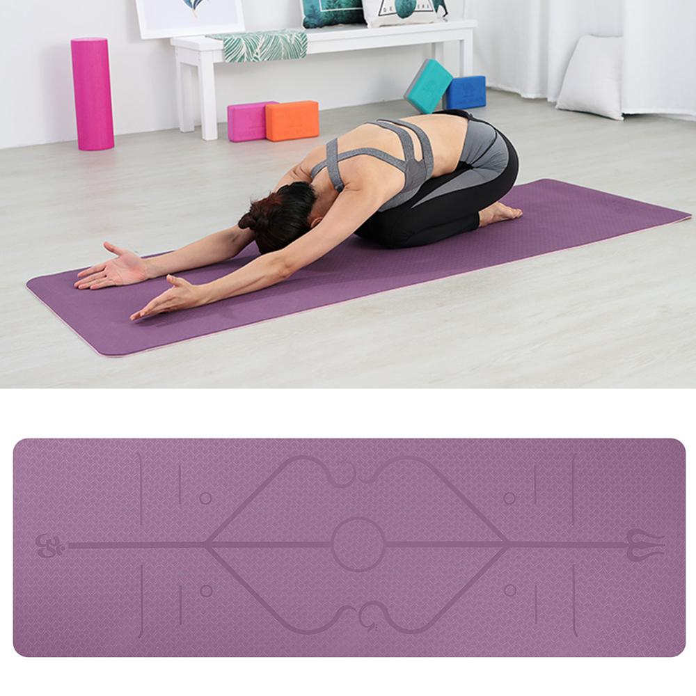 Yoga Mats With Position Line
