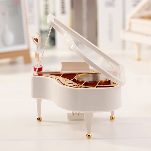 Vintage Piano Jewelry Musical Box
