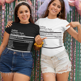 Latina Nutrition Facts T-Shirt