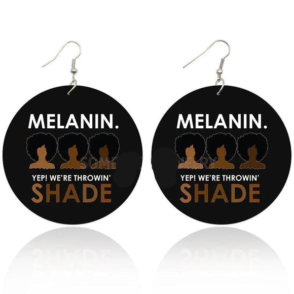 Melanin Wooden Earrings