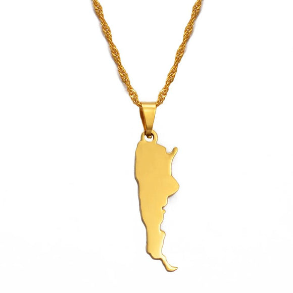 Argentina Map Necklace