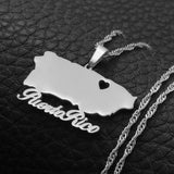 Puerto Rico Name Necklace