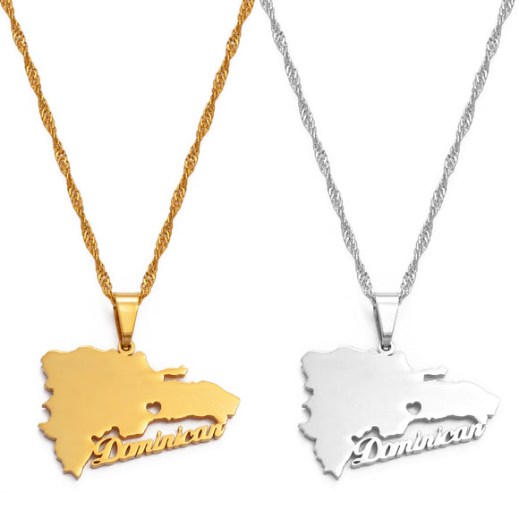 Dominican MapName Necklaces