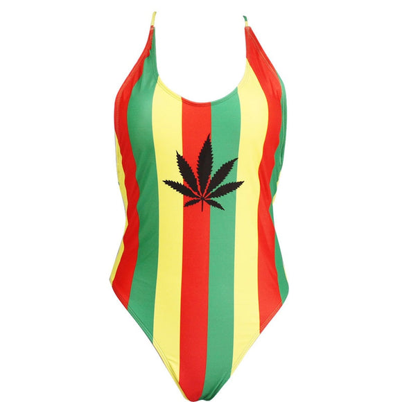 Ganja One Piece Thong Swimsuit
