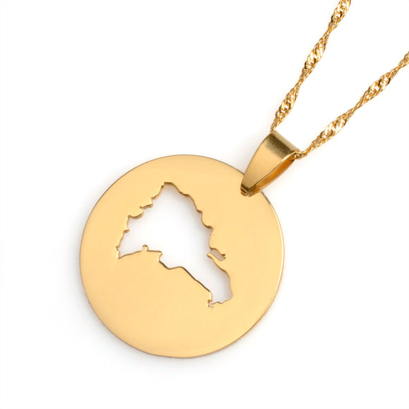 The Dominican Republic Circle Necklace