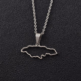 Outline Jamaica Map Necklace