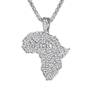Icy Africa Map Necklace