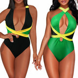 LE BESI One Piece Caribbean Flag Suit
