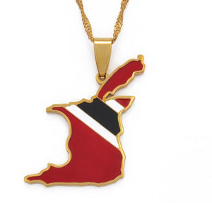 Trinidad and Tobago Map Necklace