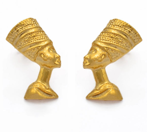 Queen Nefertiti Stud Earrings