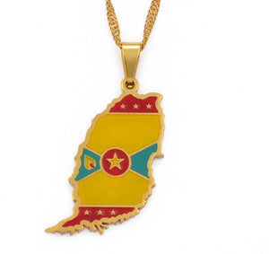 Grenada Flag Necklace