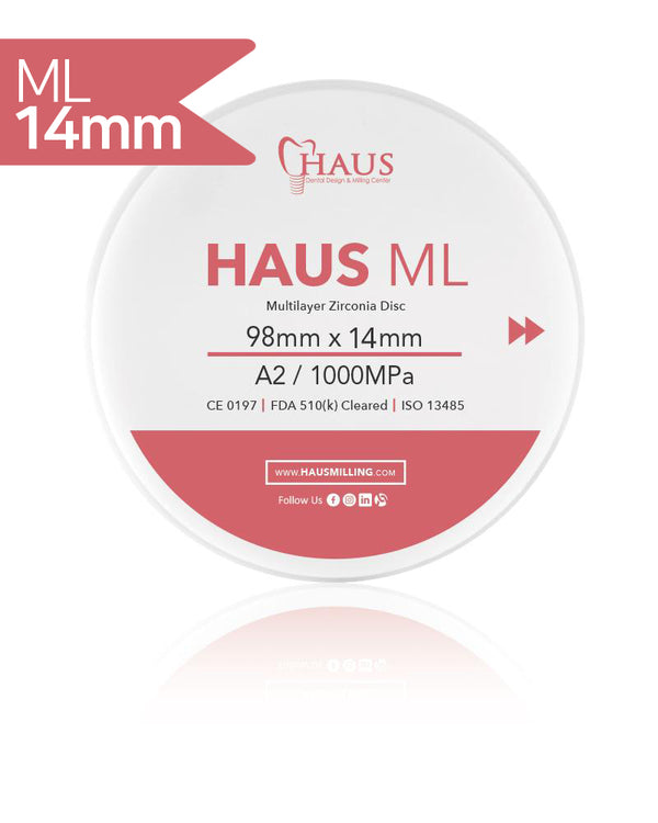 Haus ML Zirconia Disc 98X14mm