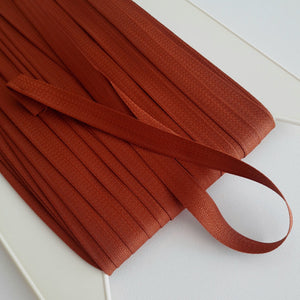 Twill tape 12mm brown - € 0,7 / m